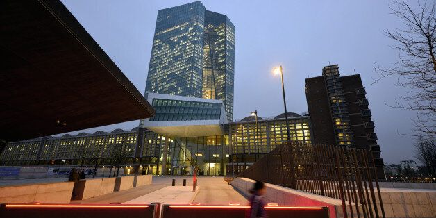FRANKFURT AM MAIN, GERMANY - DECEMBER 04: General view of the new headquaters of the European Central...
