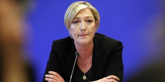 Marine Le Pen, vice-president of far-right party's Front National (FN) and daughter of FN's leader Jean-Marie...