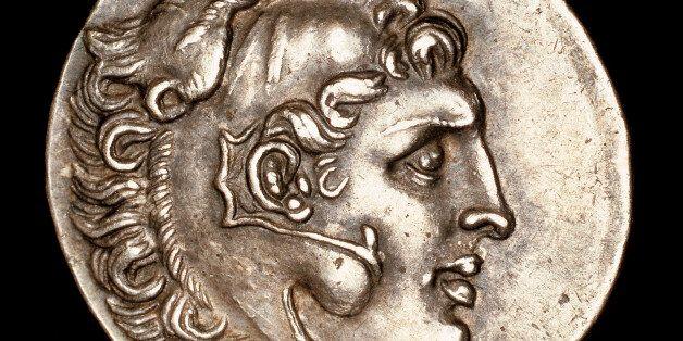 Σπάνιο Νόμισμα που χρονολογείται στο 200 π.Χ. και δείχνει το Mέγα Αλέξανδρο να φοράει