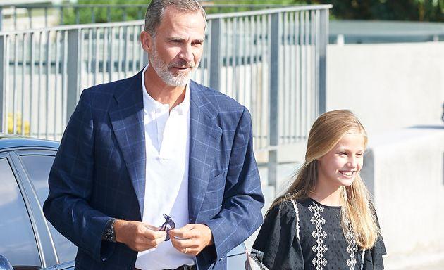El rey Felipe VI y la princesa Leonor, fotografiados el 27 de agosto en