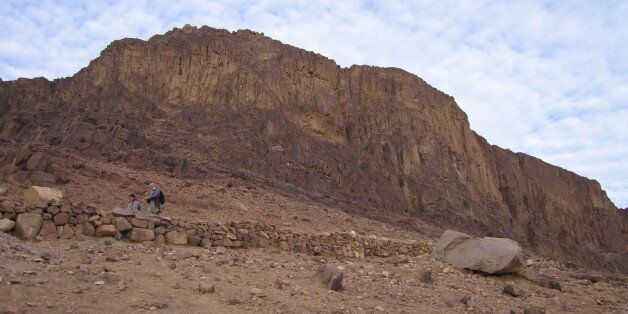 Mount Sinai viewed from halfway to the