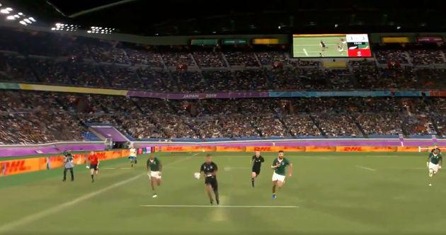 Grâce à un dispositif mis en place par la marque Canon, certaines actions de la Coupe du monde de rugby...