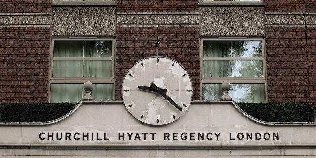 LONDON, ENGLAND - AUGUST 04: A general view of the Churchill Hyatt Regency London hotel where Pakistan...