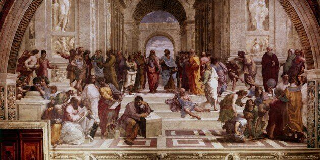 UNSPECIFIED - : The School of Athens' showing Greek philosophers and scientist with Plato (428-348 BC)...