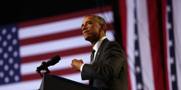 President Obama addresses community leaders at the Copernicus Community Center in Chicago to discuss...