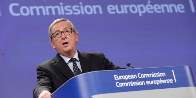European Commission President Jean-Claude Juncker addresses the media at the European Commission headquarters...