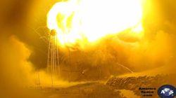 Βίντεο: Η έκρηξη του πυραύλου της Orbital Sciences από απόσταση