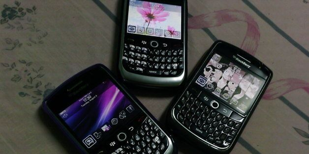 My sisters' and my Blackberry Curve 8900. We are now BlackBerry family!!;-DTaken with Samsung