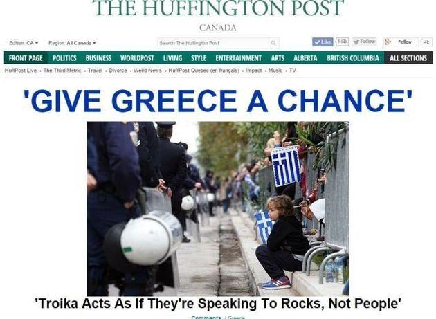 Διεθνής απήχηση από το χθεσινό πρωτοσέλιδο της HuffPost