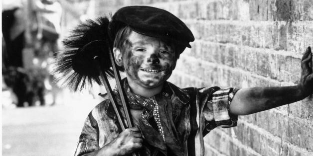 18th August 1980: Four year-old Tommy Stafford dressed as a chimney-sweep for the fancy-dress competition...