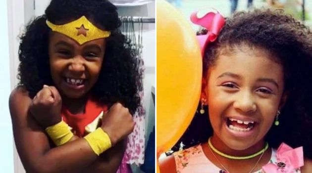 Ágatha, de apenas 8 anos, assassinada com tiro nas costas no Alemão, no