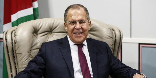 WINDHOEK, NAMIBIA - MARCH 5, 2018: Russia's Foreign Minister Sergei Lavrov during a meeting with Namibia's...