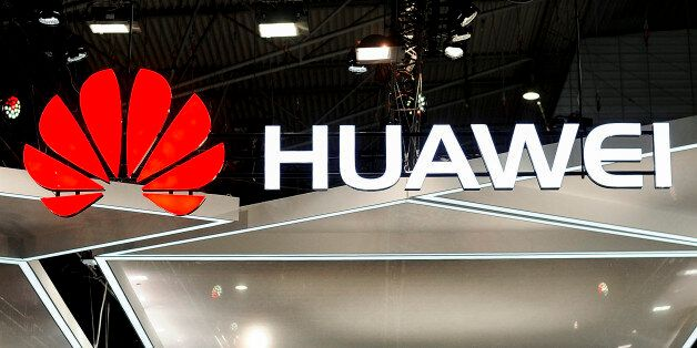 Huawei logo during the Mobile World Congress day 4, on March 1, 2018 in Barcelona, Spain. (Photo by Joan...