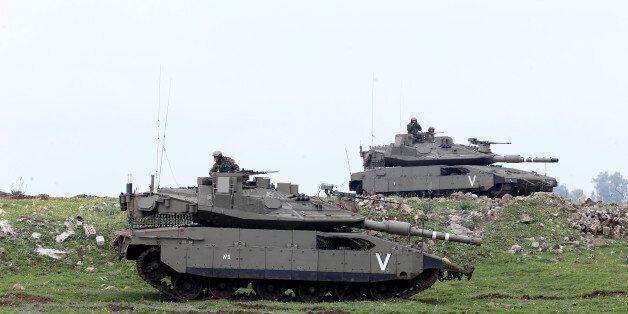 Des tanks israéliens dans le Golan, 20 mars