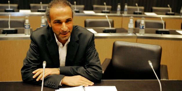 Swiss philosopher Tariq Ramadan attends a French parliamentary hearing at the National Assembly in Paris...