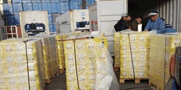À Casablanca, 240 kilos de résine de cannabis cachés dans des briques de jus