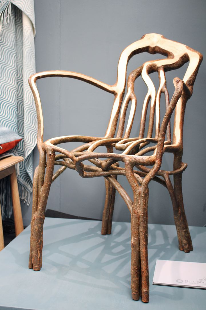 Finished Full Grown chair is pictured on display at the London Design Fair in London, Britain, September 19, 2019. Picture ta