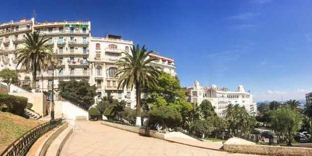 Algiers, Algeria - SEP 25, 2016: French colonial side of the city of Algiers Algeria.Modern city has...