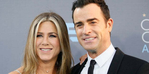 Actors Jennifer Aniston and Justin Justin Theroux arrive at the 21st Annual Critics' Choice Awards in...