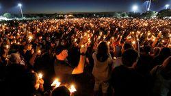 Les images de la veillée mortuaire en hommage aux victimes de la fusillade de