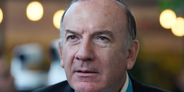 Head of the employers federation Medef, Pierre Gattaz visits the 22nd World Electronics Forum (WEF),...