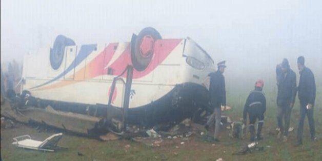 Safi: 30 blessés dans le renversement d'un autocar après une collision avec une