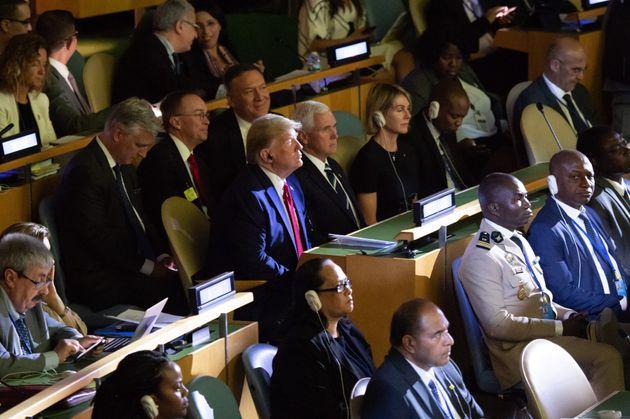 Donald Trump au sommet de l'ONU sur le climat ce lundi 23 septembre à New