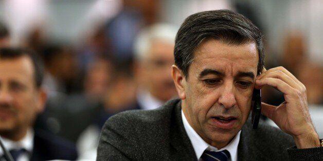 Ali Haddad chéf de patrona Algerian (FCE) at the opening Government-Walis meeting at the Palais des...