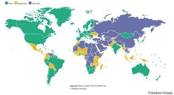 Liberté dans le monde: La Tunisie demeure le seul pays libre du monde arabe d'après le rapport 2018 de...