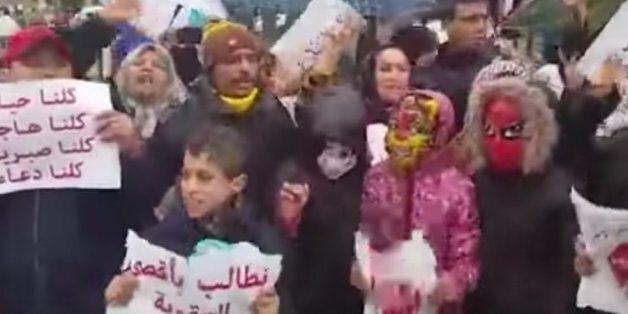 Manifestation à Fès suite à l'arrestation d'un français soupçonné de