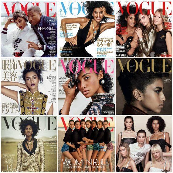 La mannequin d'origine marocaine Imaan Hammam détient le record de couvertures Vogue en