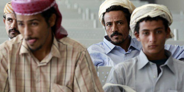 Yemeni fighters of the southern separatist movement loyal to exiled President Abedrabbo Mansour Hadi,...