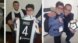 Le petit Imad assiste à un match de la Juventus, sur invitation de Medhi