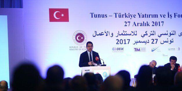 TUNIS, TUNISIA - DECEMBER 27: Tunisian Minister of Development and International Cooperation Ziad Al-Azari...