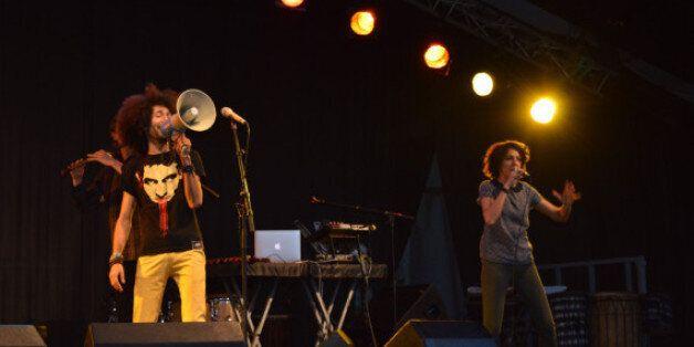 Le groupe N3rdistan sur la scène BMCI du festival Jazzablanca en