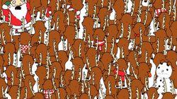 Trouverez-vous l'ours parmi les rennes du père