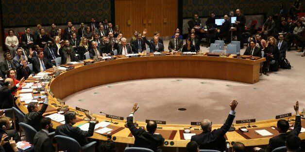 NEW YORK, USA - DECEMBER 18 : Ambassadors of 14 Countries vote in favor of Egypt draft on U.S. recognition...