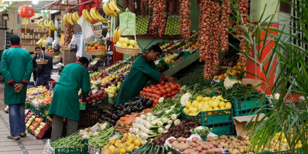 Vendors sell fruits and vegetables at a market in Rabat January 15, 2013. The alleys of Rabat's old city...