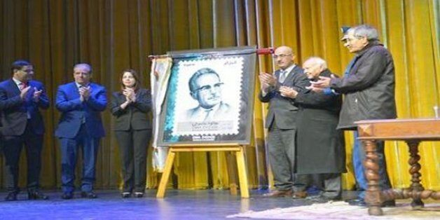 Oblitération d'un timbre postal à l'effigie de Mouloud