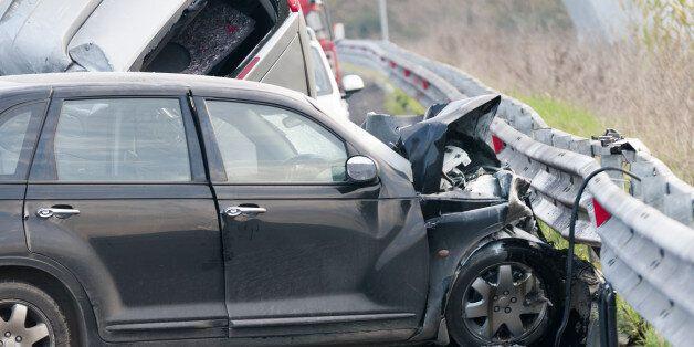 Car accident on italian