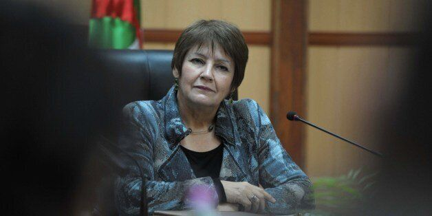 A picture taken on March 9, 2015 shows Algerian Education Minister Nouria Benghebrit at her office in...