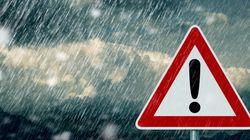 Alerte météo: Pluies, neige et vents violents