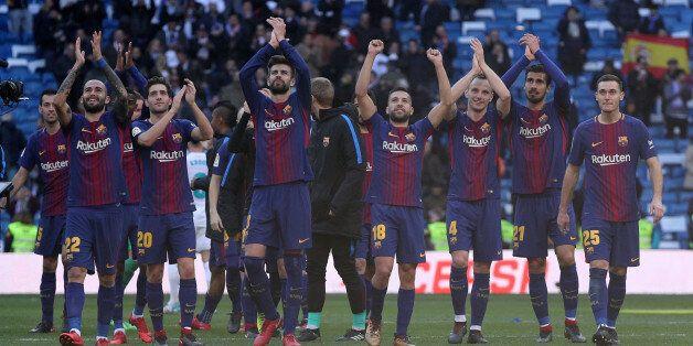 Soccer Football - La Liga Santander - Real Madrid vs FC Barcelona - Santiago Bernabeu, Madrid, Spain...