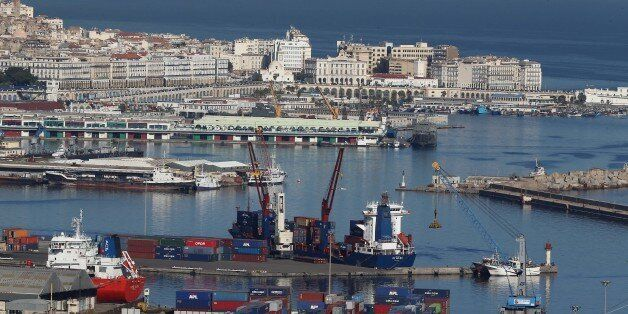 Algiers Port, General View of Algiers on November 24, 2017 Algerian voters are choosing new local leaders...