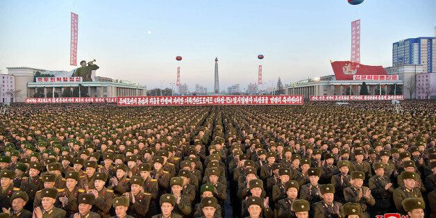 TOPSHOT - This December 1, 2017 picture released by North Korea's official Korean Central News Agency...