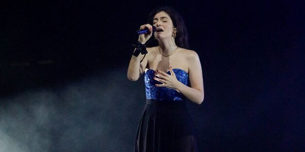 MELBOURNE, AUSTRALIA - NOVEMBER 26: Lorde performs at Sidney Myer Music Bowl on November 26, 2017 in...