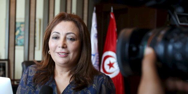Wided Bouchamaoui, president of Tunisia's Employers' Organisation (UTICA) and a member of Tunisia's National...