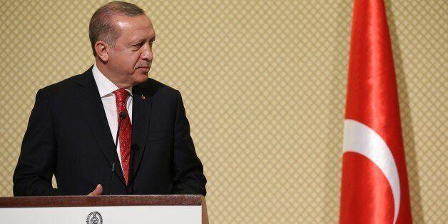 TUNIS, TUNISIA - DECEMBER 27: (----EDITORIAL USE ONLY MANDATORY CREDIT - ' TURKISH PRESIDENCY / YASIN...
