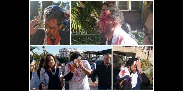 La répression policière du sit-in des médecins résidents à Alger
