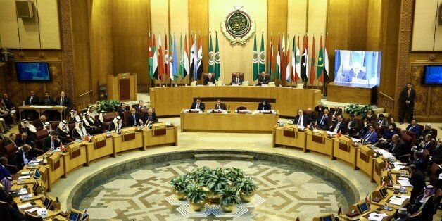 CAIRO, EGYPT - DECEMBER 9: General view of Arab League foreign ministers emergency meeting in the Egyptian...